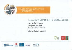 Laureat 2014 du concours eco conception avnir CCI grand Lille