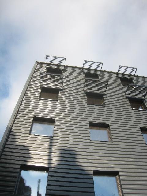 pegase facade arriere bardage metal Architecte Bureau Impact Pierre Coppe